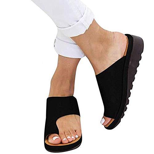 Wygwlg Sandalias de Plataforma cómodas para Mujer Zapatos de Verano de Cuero...