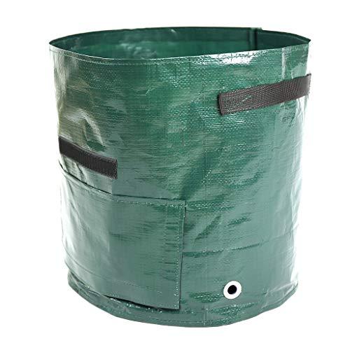 Youdong Sacs de Jardin à Déchets Résistants, étanche Heavy Duty Grande avec Poignées Pliable et Réutilisable Sac en PE Solide Autoportante Poubelle pour Les Feuillage Pelouse Vert Coupe 30x35cm