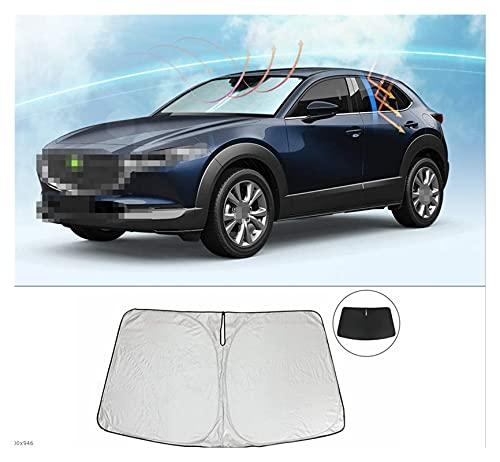 MINGRUI FangH Coche Sun Visor Windshield Sunshade Auto Front Window Sun Shade Coche Parabrisas Visor Cover Fit para Mazda CX-30 CX30 2019 2020 2021 (Color : Silver)