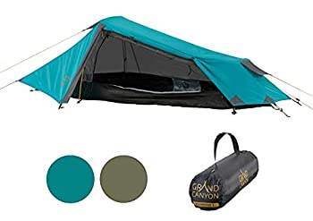 Grand Canyon RICHMOND 1 - tente tunnel pour 1 personne   ultra-légère, étanche, petit format   tente pour le trekking, le camping, l'extérieur   Blue Grass (Bleu)