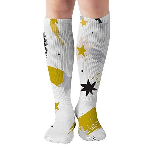 ouyjian Colorful Starry Sky Shooting Stars Art Nature Sport Compression Socks,Athletic Socks,Long Tube Stockings 50Cm/19.7 Inch