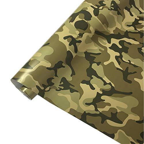 folimac 8,50€/m² Camouflage Autofolie Selbstklebend mit Luftkanäle Car Wrap Autofolie #1 (100cm x 152cm)