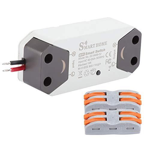 Emoshayoga Compartir Dispositivo WiFi Interruptor de luz Inteligente No se Requiere hub para el hogar