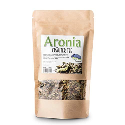Aroniatee - Schwarze Apfelbeeren - Aronia Kräutertee Tee aus Aroniatrester und Kräutern