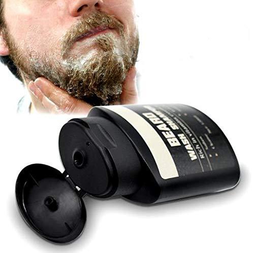 Beard Wash Shampoo, 120ml Champú humectante para barba suaviza la barba fortalece el uso de brillo para los hombres