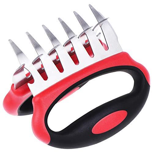 XIDAJIE 2 paquetes de garras de carne – 3 en 1 funcional de acero inoxidable – Tenedores de carne de barbacoa para manipular y tallar alimentos de parrilla ahumador –...
