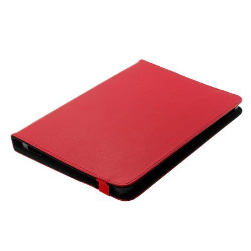 Bookstyle Tablet PC Tasche Etui Hülle Book Hülle rot mit Standfunktion geeignet für Point Of View Mobii ProTab 2 XXL