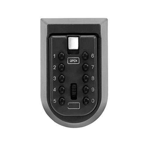 Caja de seguridad de combinación segura para llaves, de aleación de aluminio, montado en la pared, seguridad para el hogar, contraseña, con código, para guardar joyas, tarjetas, casas, llaves