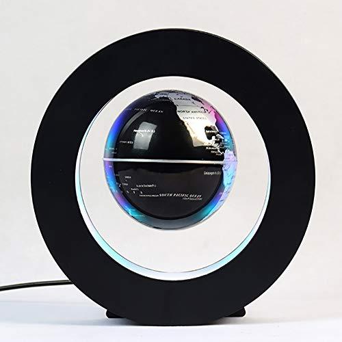 Light Infactory Schwebender Globus: Freischwebender 8.5-cm-Globus in Magnet-Ring mit bunter LED-Beleuchtung,Silber