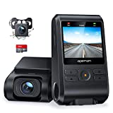 APEMAN Dash Cam, Front and Rear Camera for Cars FHD 1080P, SD Card Included, Support GPS, IPS Screen, Night Vision, 170°Wide Angle, Motion Detection, Loop Recording, G-Sensor, Parking Monitor, WDR