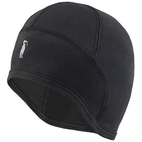 ALPIDEX Helm Unterziehmütze Cap Helmmütze Fahrrad Bike Mütze, Farbe:Black