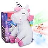 Peluche Proiettore Stelle Unicorno per Bambini, Pupazzo Luce Notturna Bimbi per la festa, compleanno, regalo - InnoBeta Cornie