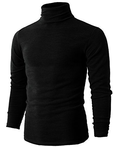 Black Turtleneck Sweater Mens