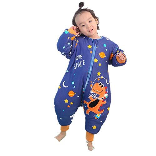 Sacos de dormir Bebé Pierna Dividida Niños Pijamas De Algodón De Otoño E Invierno Bebé De Dibujos Animados Anti Patada Acolchada Engrosada Grandes Niños Saco De Dormir D M