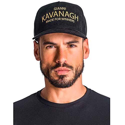Gianni Kavanagh Black Cap with Gold GK Made For Winners Logo Gorra de béisbol, Negro, UN para Hombre