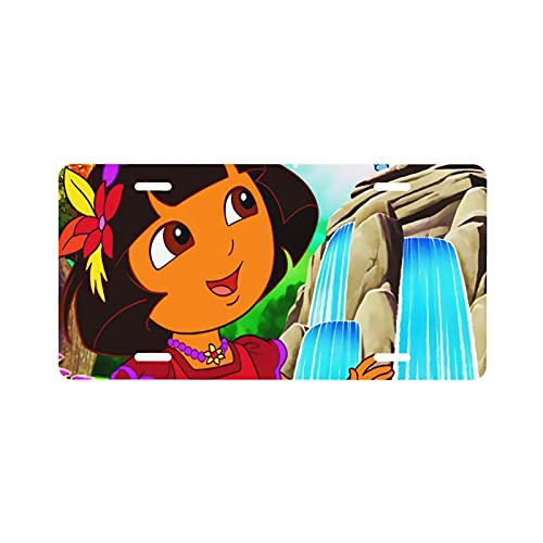 XCNGG Dora The Explorer Decorative Car License Plate Cover Aluminum Novelty License Plate 6 X 12 Inches