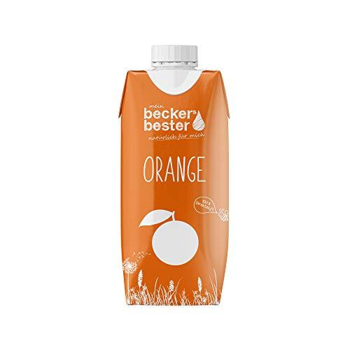 beckers bester Orangensaft - 12er Pack - 100% natürlicher Direktsaft - Co2-neutral hergestellt – Vegan – Ohne Zuckerzusatz – Ohne Gentechnik – Glutenfrei – Laktosefrei - 12 x 330 ml