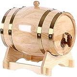 WaiMin Mini barril de cerveza barril de roble roble madera vino barril, dispensador de vino de roble vintage para almacenamiento de bebidas alcohólicas de vino (color: A, tamaño: 1,5 L)