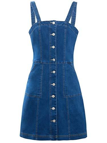 SS7 Damen Denim Pinafore Kleid