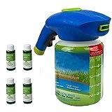 Adaya Engrais Liquide pour pelouse Système de pelouse Liquide Pulvérisateur de semences de Gazon pour l'entretien des pelouses de semences Système de semis (1x Bottle + 4 X Liquid)