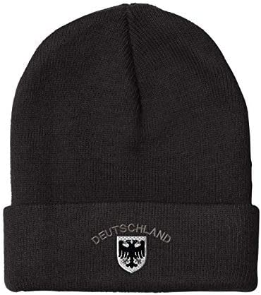 Beanies for Men Deutschland Black Bombing free shipping Max 43% OFF German Acryli Embroidery Eagle