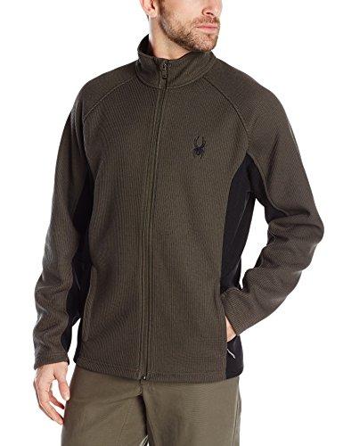Spyder Men's Constant Full Zip Sweater, Osetra/Black, Large