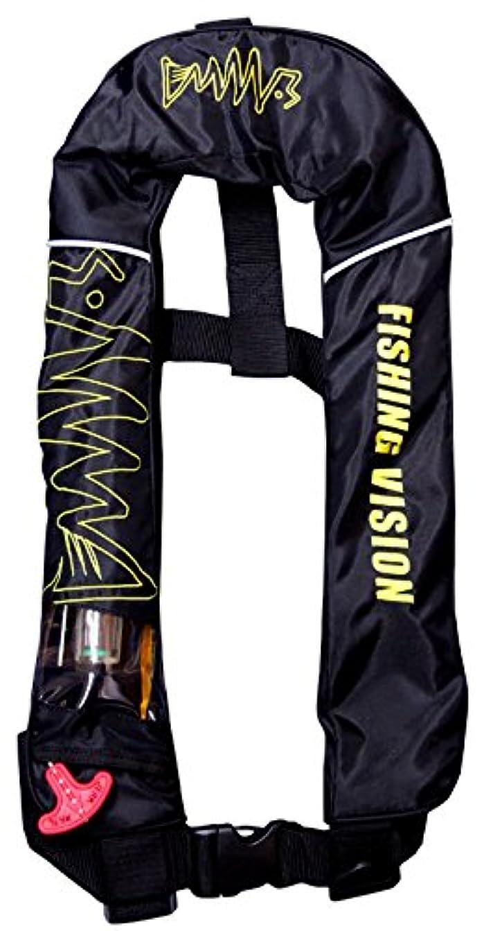 消去時系列生きる釣りビジョン(Tsuri Vision) オリジナル ライフジャケット ブラック×イエロー.