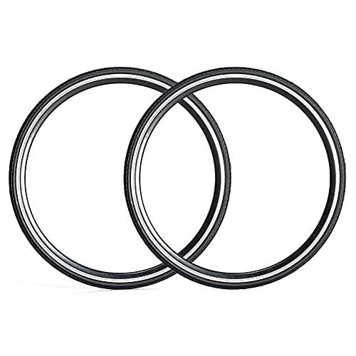 Neumáticos de bicicleta negros (2 neumáticos) Neumáticos de bicicleta de carretera de repuesto general, accesorios de bicicleta duraderos con amortiguación, se adapta a bicicletas de carretera,700x25