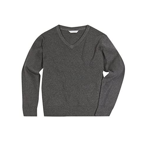most fashionable select for authentic 60% discount Grey V Neck School Jumper: Amazon.co.uk