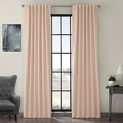 HPD Half Price Drapes BOCH-141314-96 Blackout Room Darkening Curtain (1 Panel), 50 X 96, Bellini Peach