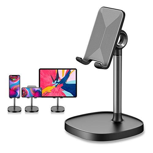 Tsryrlr Handy Ständer, verstellbare Tisch Handy Halterung, Winkel Höhe einstellbar Aluminium Tablet Halter kompatibel mit Smartphone und weitere 4-8 Zoll Geräte