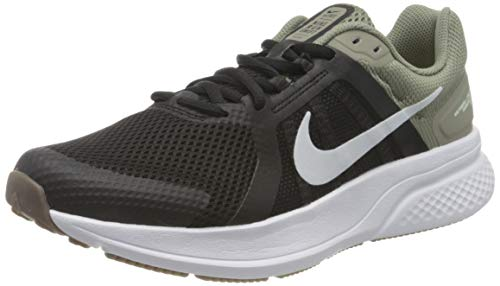 Nike Run Swift 2, Running Shoe Hombre, Light Army/Pure Platinum-Black-Barely Green-White-Gum Dark Brown, 43 EU