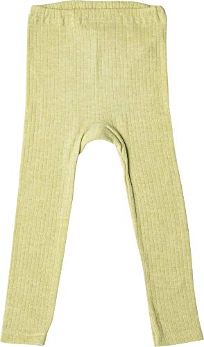 Cosilana Naturwäsche Cosilana, Kinder Leggings/Lange Unterhose, 45% KBA Baumwolle, 35% kbT Wolle, 20% Seide (92, Grün Meliert)
