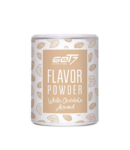 Got7 Flavorpulver Flavorsystem Aroma für Quark Eiweißshake Joghurt 150g (White Chocolate Almond - Weiße Schokolade Mandel)