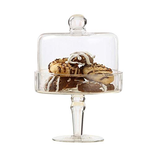 C-J-Xin Chocolade Racket, 14/23 cm, glazen voedselcontainer, restaurant sandwich sushi Dome-partij-decoratie dessert tray chip & dip server taartenstandaard