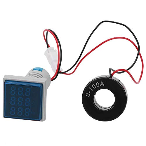 Pantalla digital LED cuadrada Voltaje CA Frecuencia de corriente Medidor de indicación...