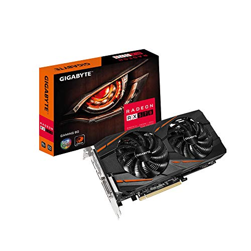 Gigabyte RadeonRX 570 Gaming 8G rev. 2.0 Graphics Card, 2X WINDFORCE Fans, 8GB 256-Bit GDDR6, GV-RX570GAMING-8GD Rev 2.0 Video Card