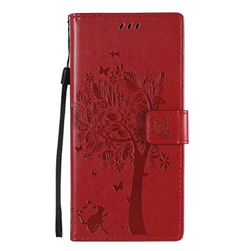 Hülle für Samsung Galaxy Note 20 Ultra Hülle Leder,[Kartenfach & Standfunktion] Flip Case Lederhülle Schutzhülle für Samsung Galaxy Note 20 Ultra - EYKT022273 Rot