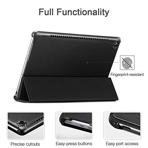 ESR Hülle kompatibel mit Huawei MediaPad M5 / M5 Pro Hülle 10,8 Zoll - Ultra dünnes Yippee Trifold Smart Case mit Auto Schlaf-/Wachfunktion und Standfunktion - Schutzhülle mit PC Rückseite - Schwarz - 3