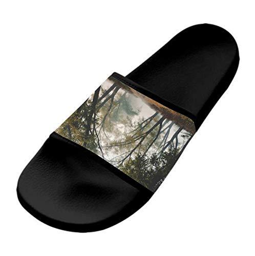 GKrepps Zapatillas informales y elegantes, ligeras para interiores y exteriores, antideslizantes, planas y cómodas., color Negro, talla 40 2/3 EU