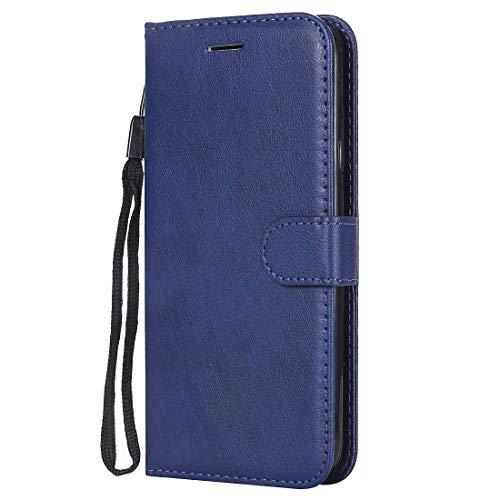 Yiizy handyhülle für Microsoft Lumia 640 LTE Ledertasche, Fashion Stil Lederhülle Brieftasche Schutzhülle für Microsoft Lumia 640 LTE hülle Silikon Cover mit Magnetverschluss Kartenfächer (Blau)