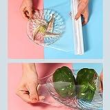 Supermarket Film Transparente Comida,Hidratante Y Fresco De Mantenimiento De Rollo De Papel De Plástico,Fuerte Película De Estiramiento Pegajoso,Película De Embalaje Comercial ( Size : 25cm x 60m )