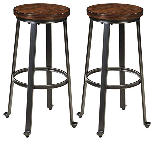 Signature Design by Ashley - Challiman Bar Height Bar Stool - Set of 2 - Brown