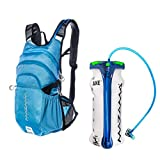 Mazama Kapka Insulated Hydration Backpack with 3 Liter BPA Free and Taste Free USA Made Film Axe Bladder (Blue)