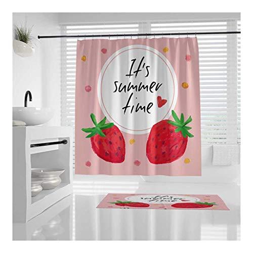 Douchegordijn, waterdicht en slijtvast, 100% duurzaam polyester douchegordijnen, wasmachine, gemakkelijk te installeren 150cm*180cm/59 * 70.9 inches