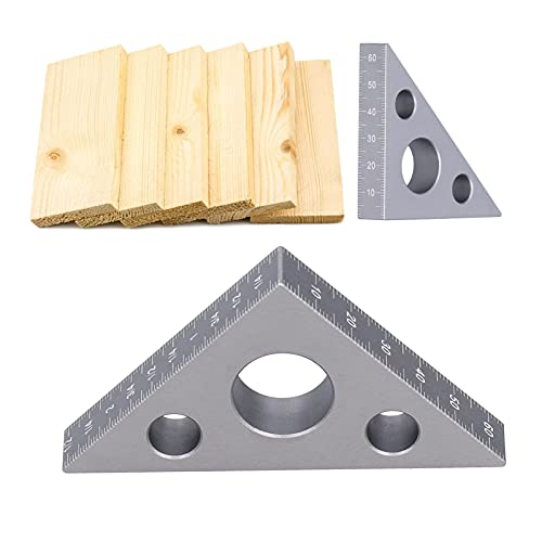 WFSH Cuadrado de carpintería, triángulo de carpintería, Herramientas de carpintería, fácil de Mover Material de aleación de Aluminio Triángulo Engrosado Diseño de carpintería de 15 mm de...