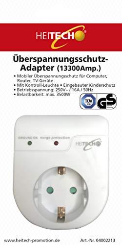 Heitech 04002280 Spannungsadapter mit Kinderschutz, weiß