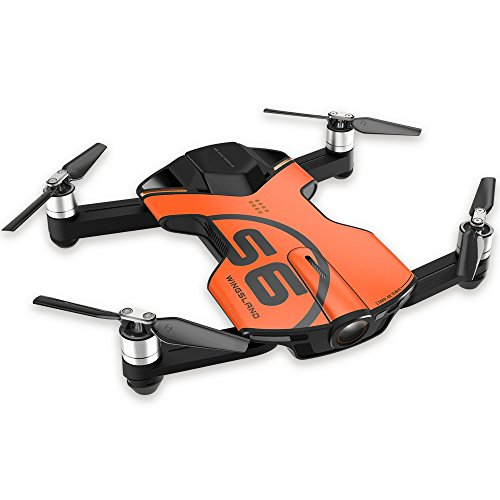 Wingsland S6 Orange 4K30 Foldable Pocket Drone with Camera, Ready-to-Fly - Quadcopter, Advance Edition, Orange