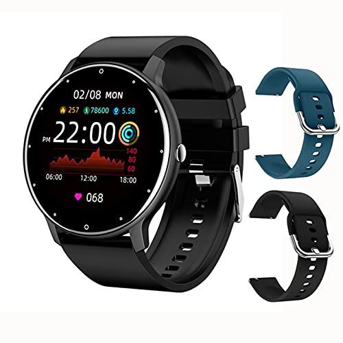 ACY Reloj inteligente de moda para mujer y hombre, ejercicio de ritmo cardíaco, presión arterial, rastreador de fitness impermeable para iOS Android, I