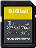 Scheda di memoria professionale SD Memory SDXC Card 1024 GB 1 TB UHS-II Memory SD Card,V60, C10, U3, compatibile con videocamere e Video Cameras (1024 GB)
